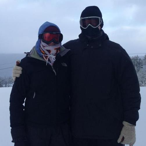 Skiing in freezing West Virginia (2013)