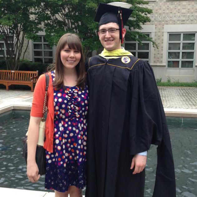 Greg's MSLIS graduation, Catholic University, DC (2013)