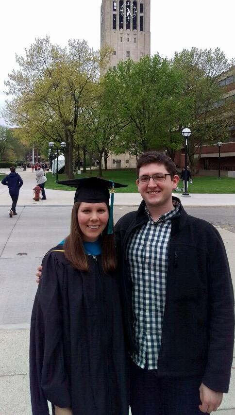 Caitlin's MPP graduation, University of Michigan (2017)