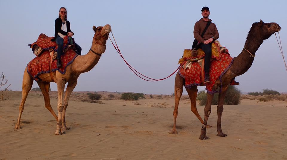 Camel ride in India