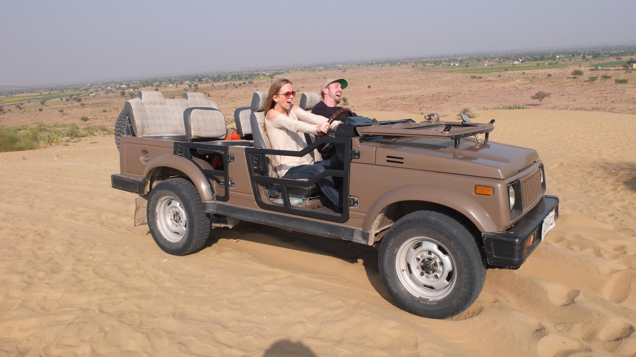 Desert safari in India