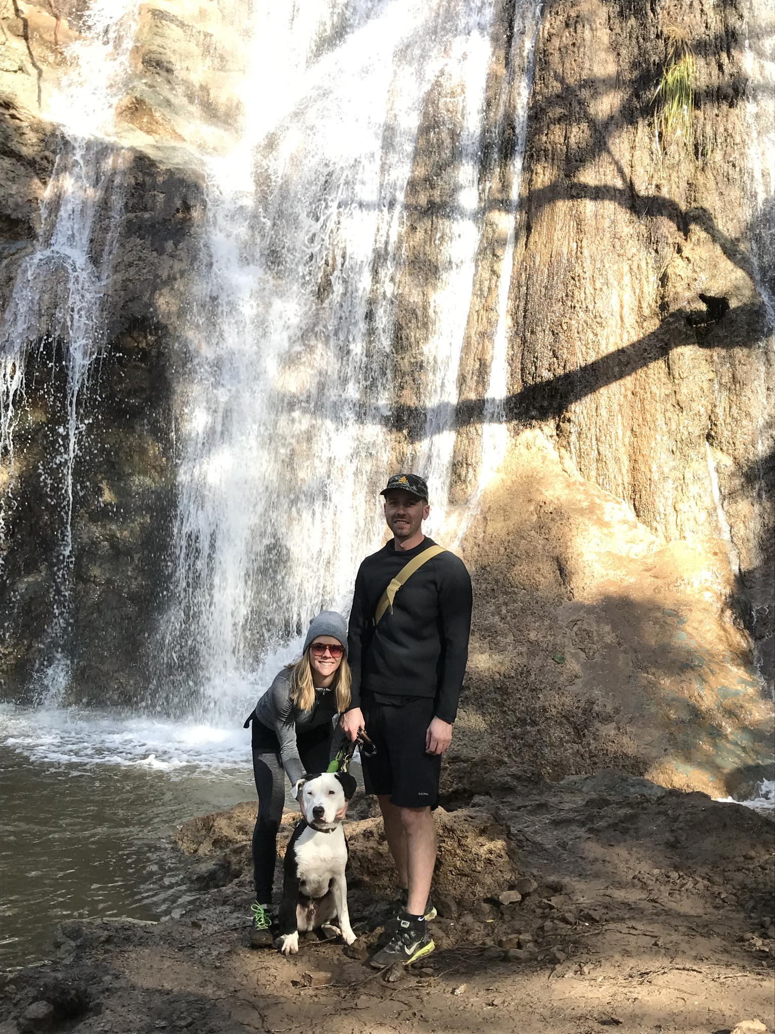 Waterfall hike in California