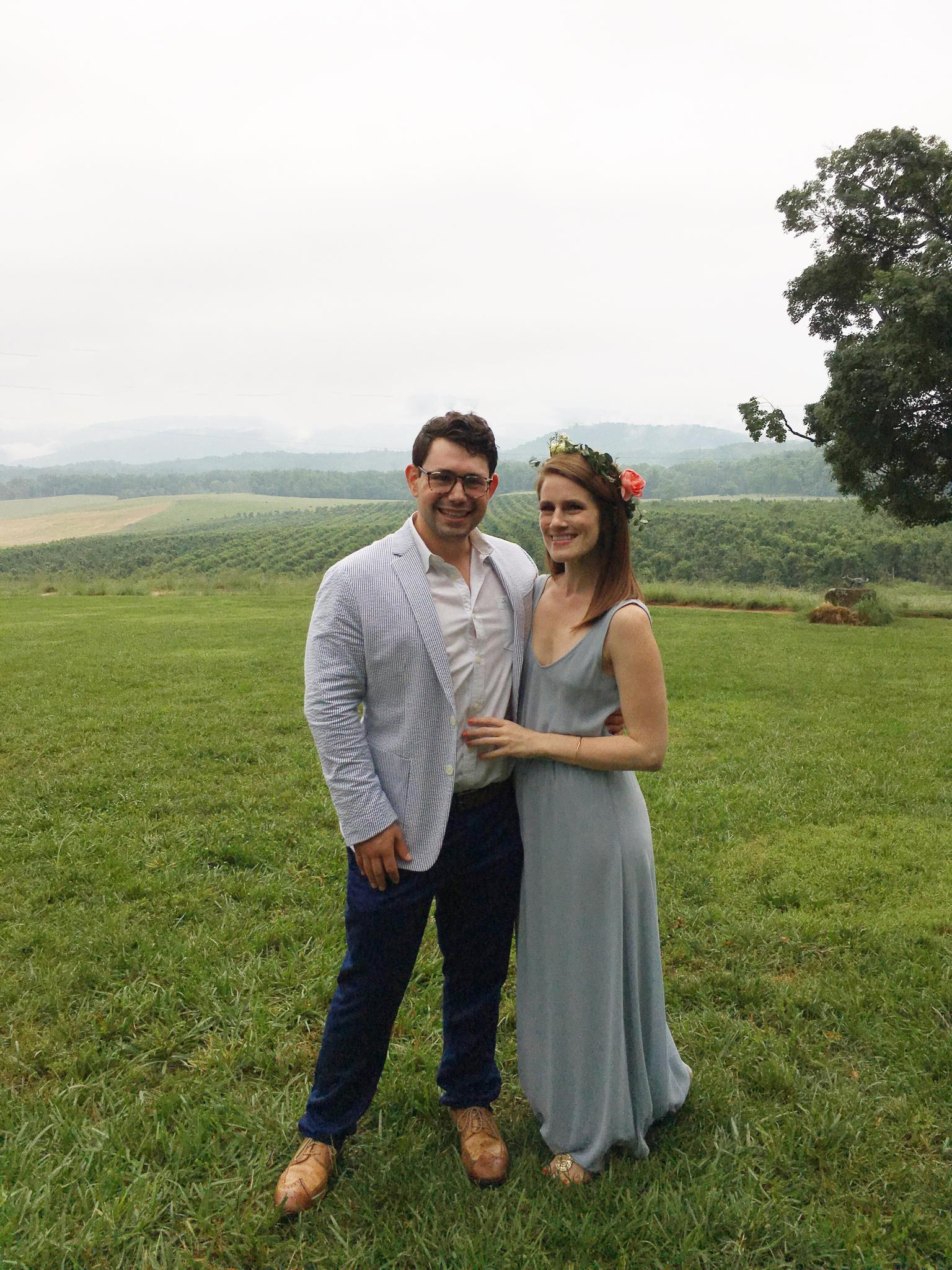 Heather's sister's wedding, May 2017