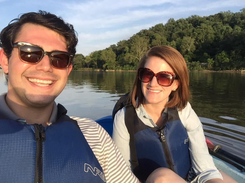 Third date. First Selfie. Kayaking on the Potomac, June 2016.