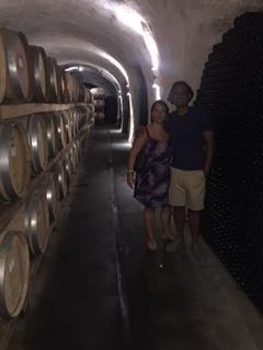 Inside the winery at White Rock Vineyards.