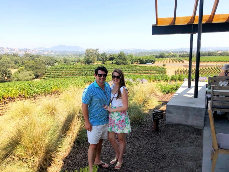 Wine tasting in Sonoma County, August 2018