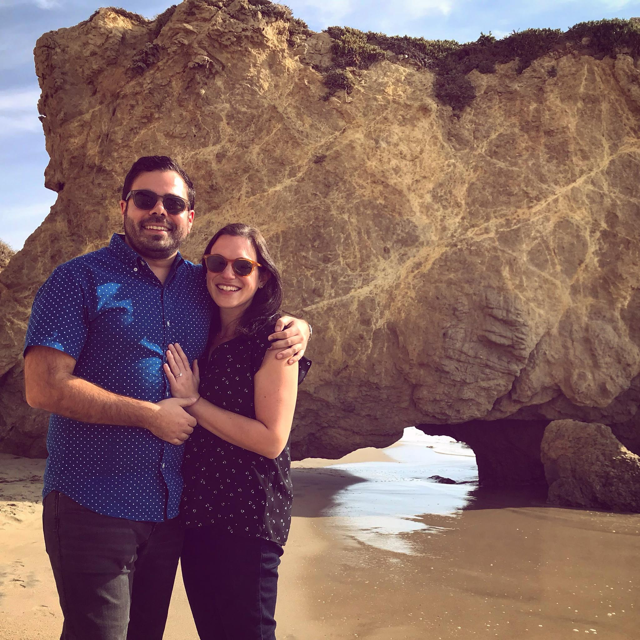 We enjoyed our friend's weddings so much... that we got engaged!! (Malibu, CA)