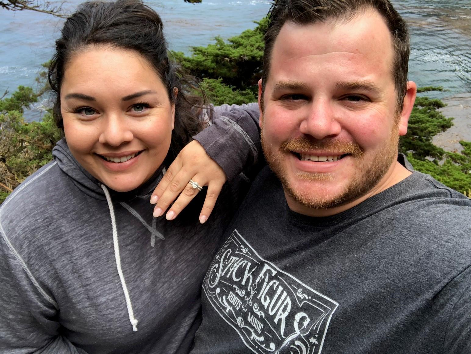 He proposed! Point Lobos Natural Reserve - 09-07-18