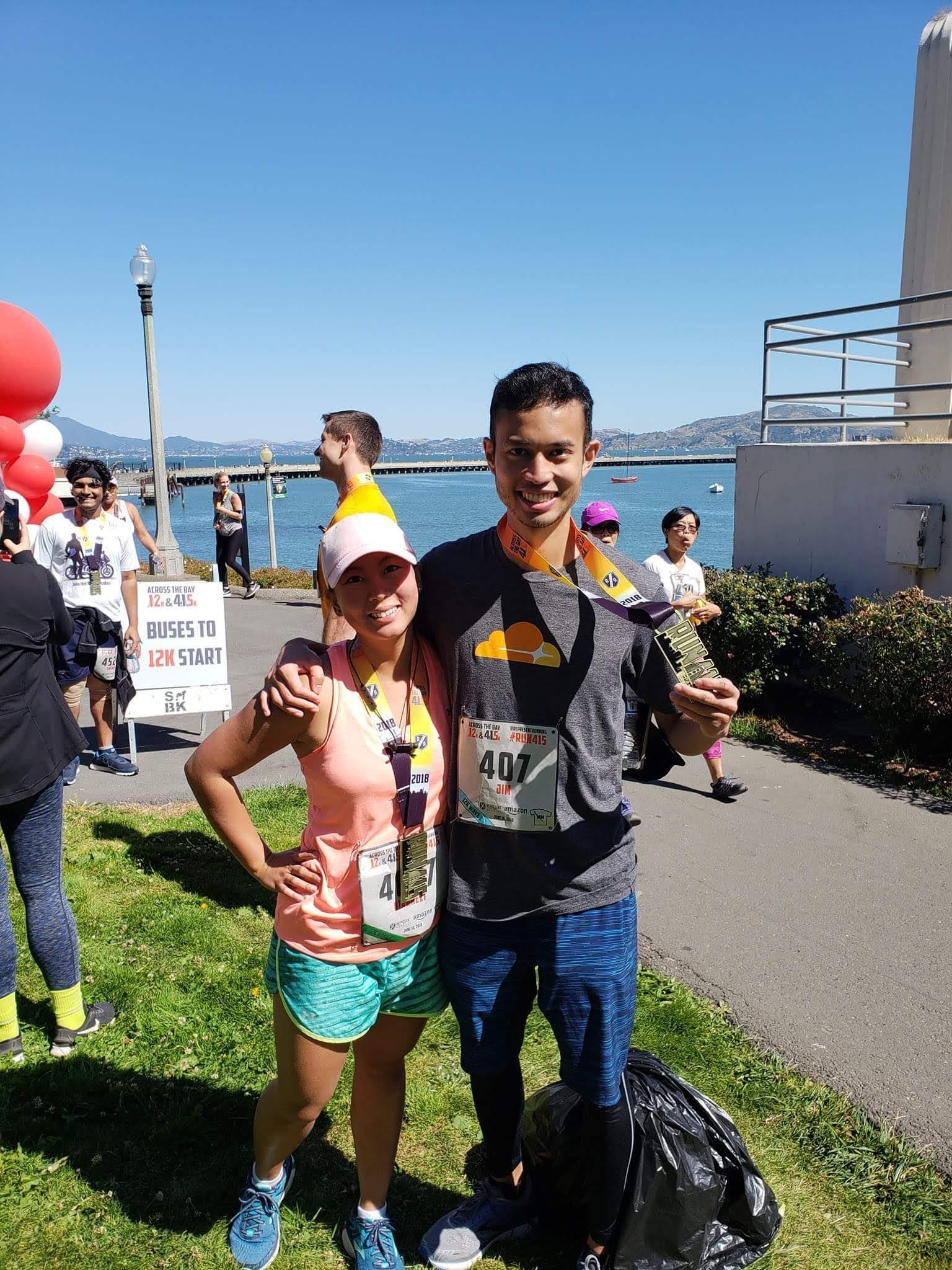 A 12k run together, June 2018