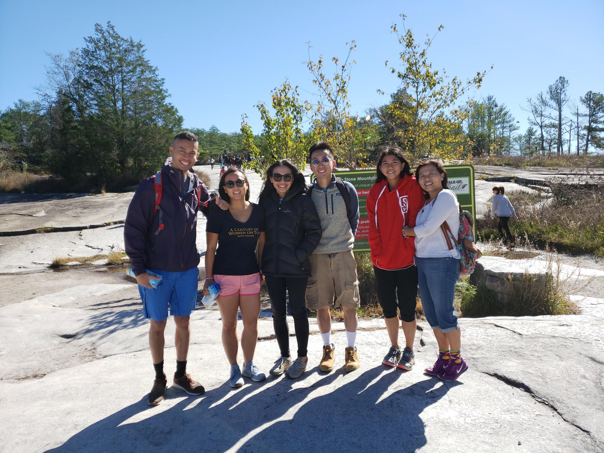 Stone Mountain with Priscilla's family, October 2018