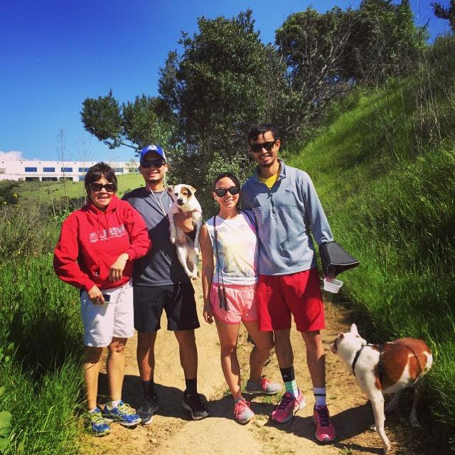 Hiking with Mama, Lina, and Charlie