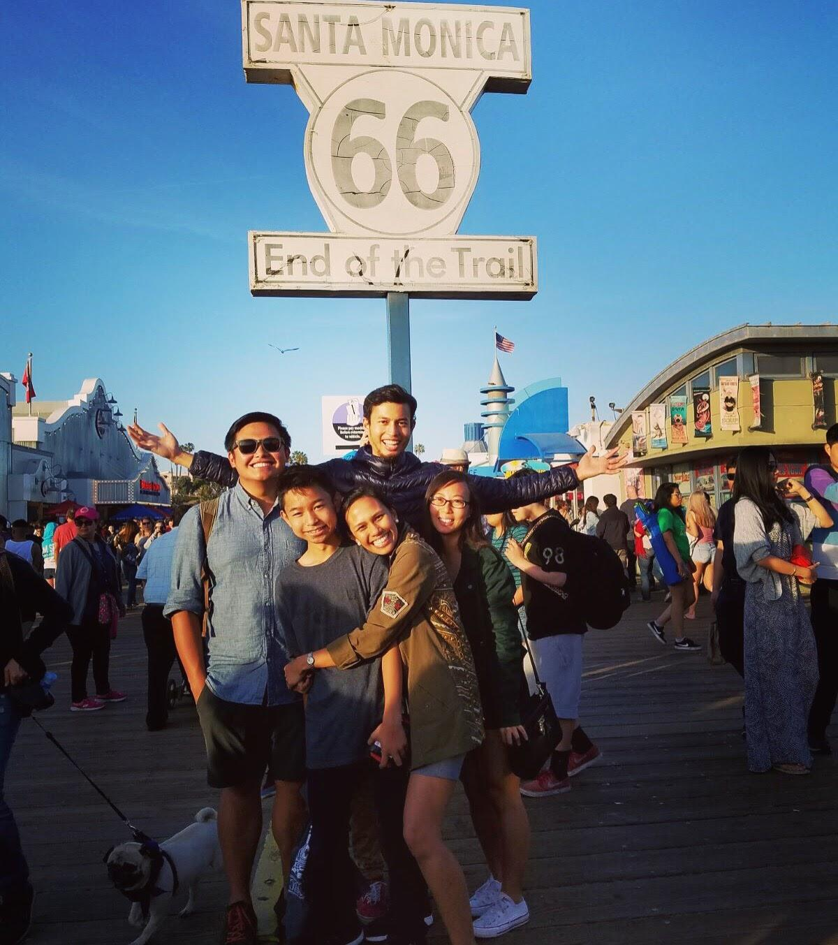 Santa Monica with Ate Niel, Carl, and Manot, April 2017