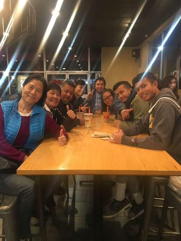 Boba with Jim's family and Priscilla's mom, December 2017