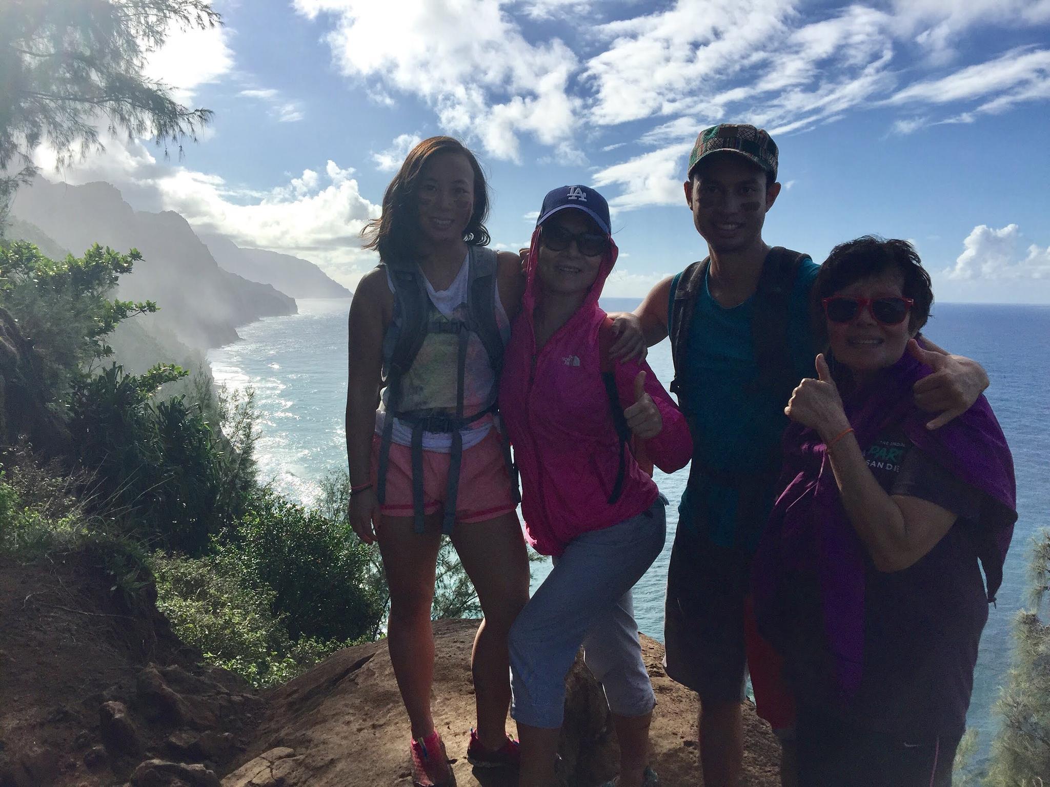 Hiking in Kauai, December 2017