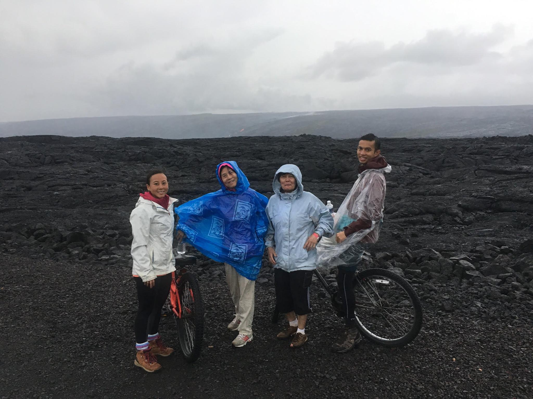 Biking/Hiking to see active lava flow in Big Island, December 2017