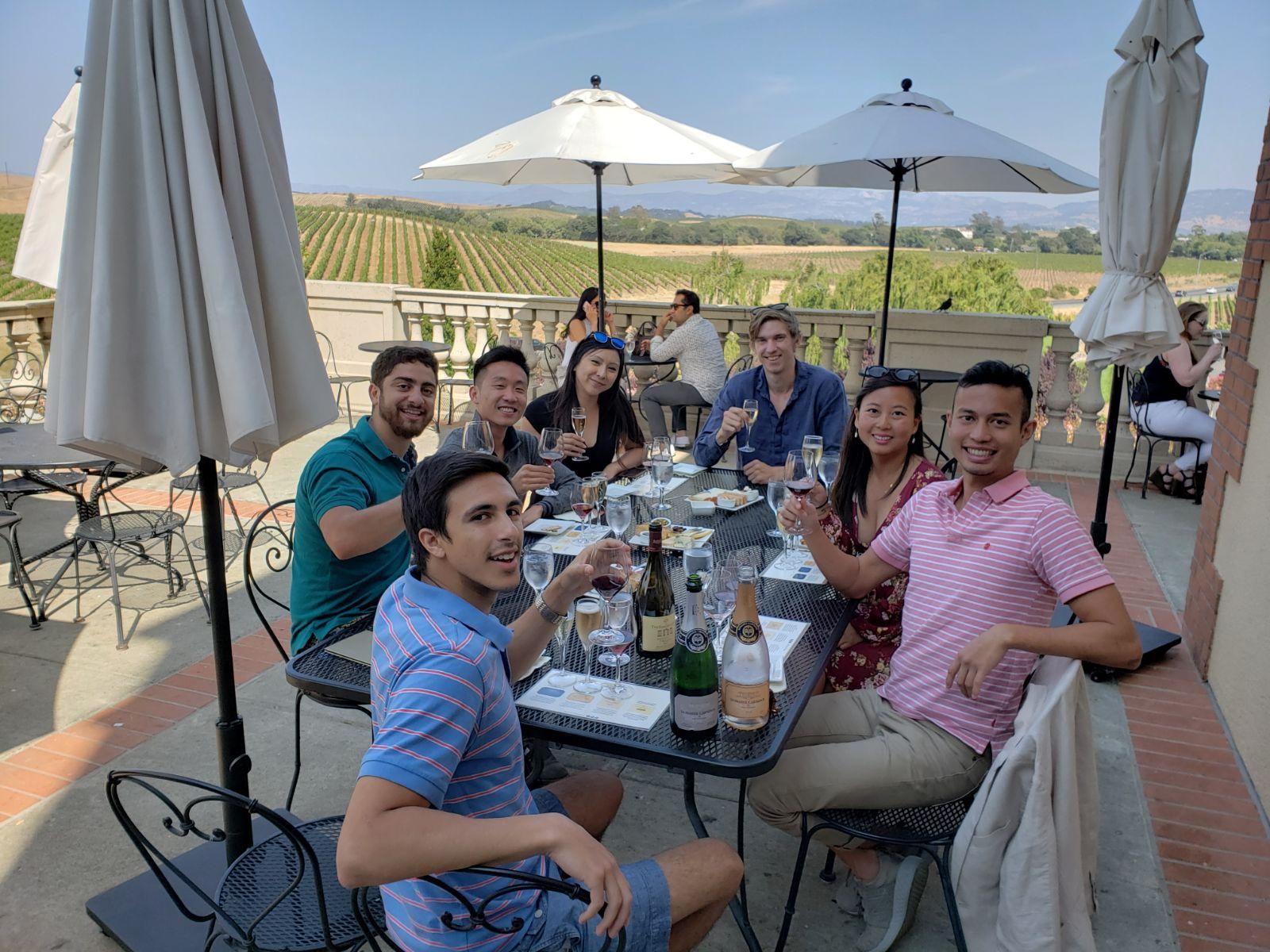 Wine tasting in Napa, August 2018