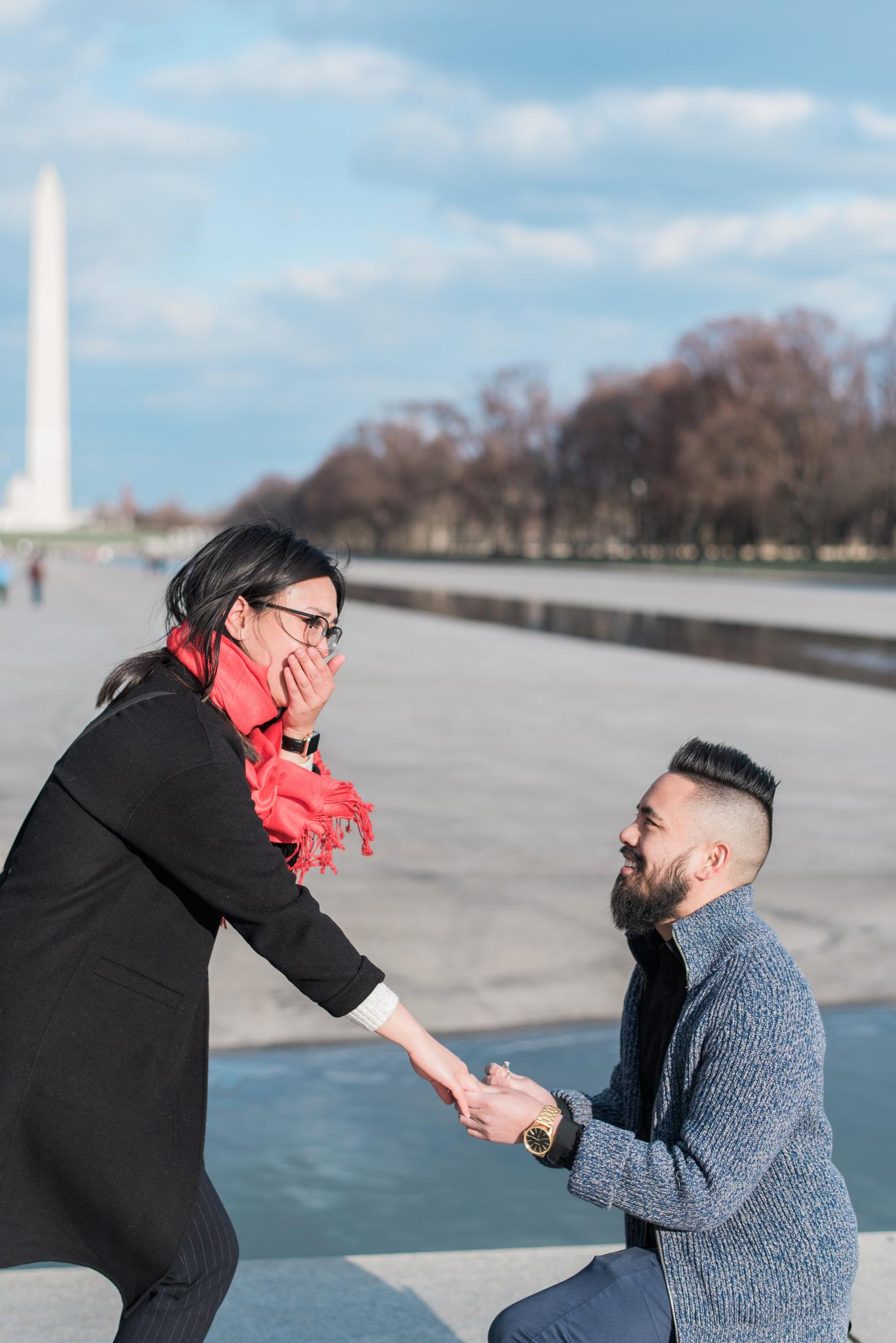 March 13, 2018 On a homecoming trip to Washington, DC  Ronald proposed