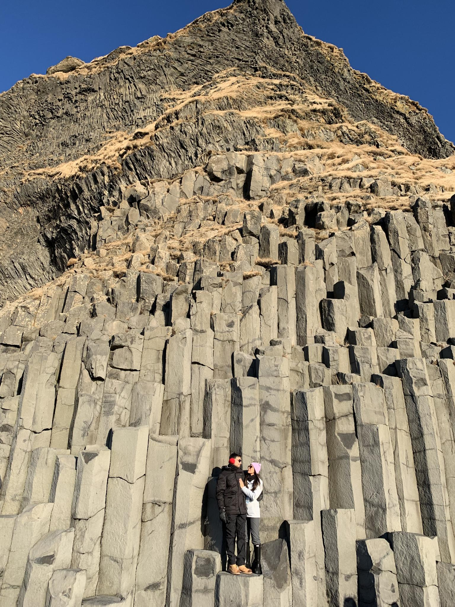 Basalt Columns at Reynisfjara, Iceland - February 2019
