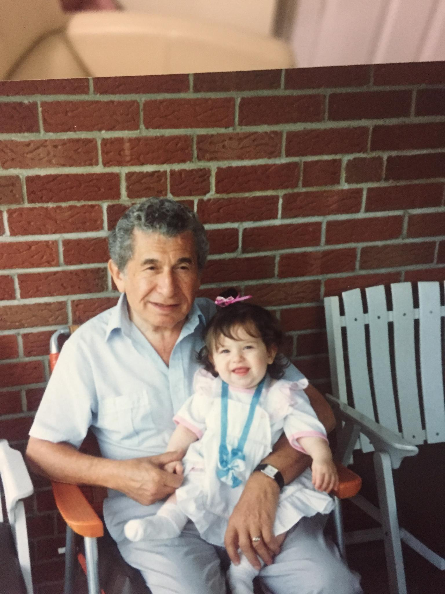 Danielle with her maternal grandfather