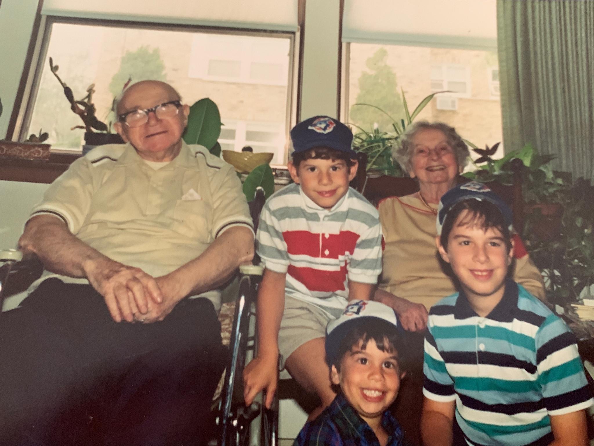 Noah and his maternal great-grandparents and siblings
