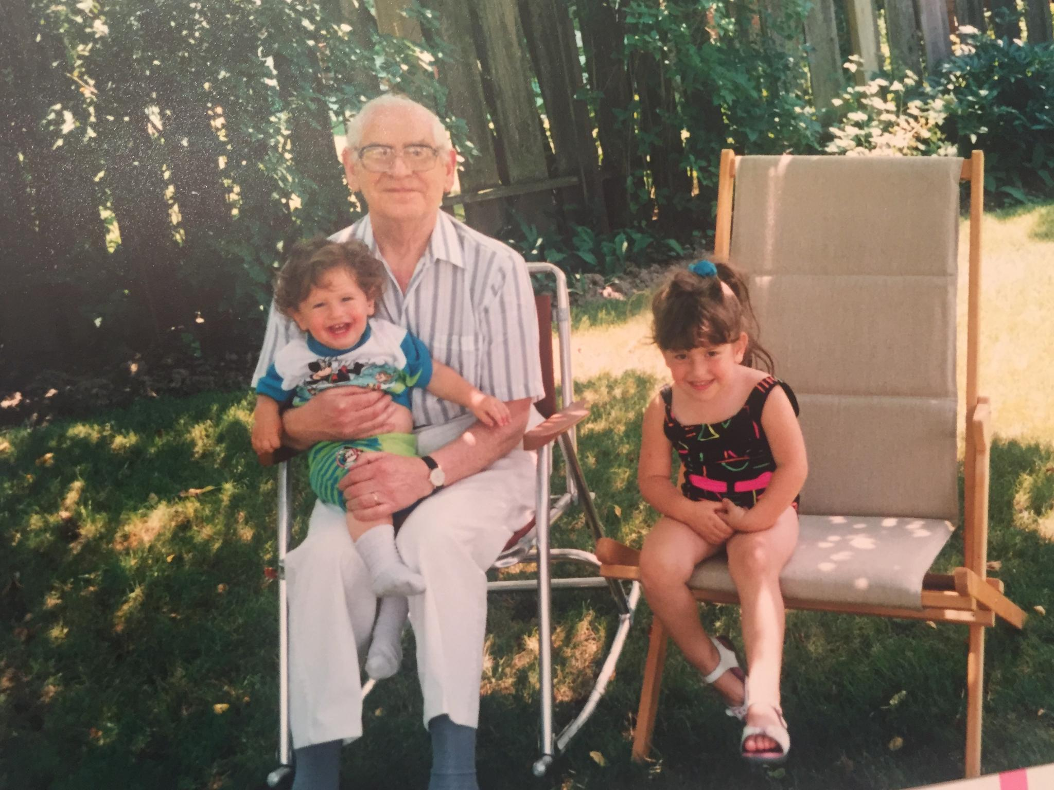 Danielle, Evan and their paternal grandfather