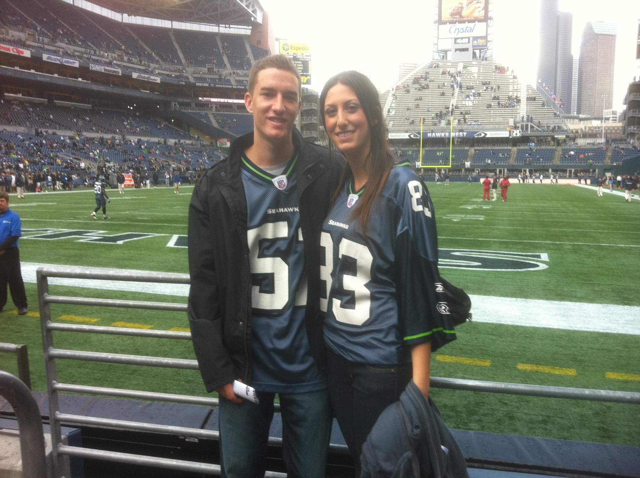 Our first Seahawks game together. Go Hawks!