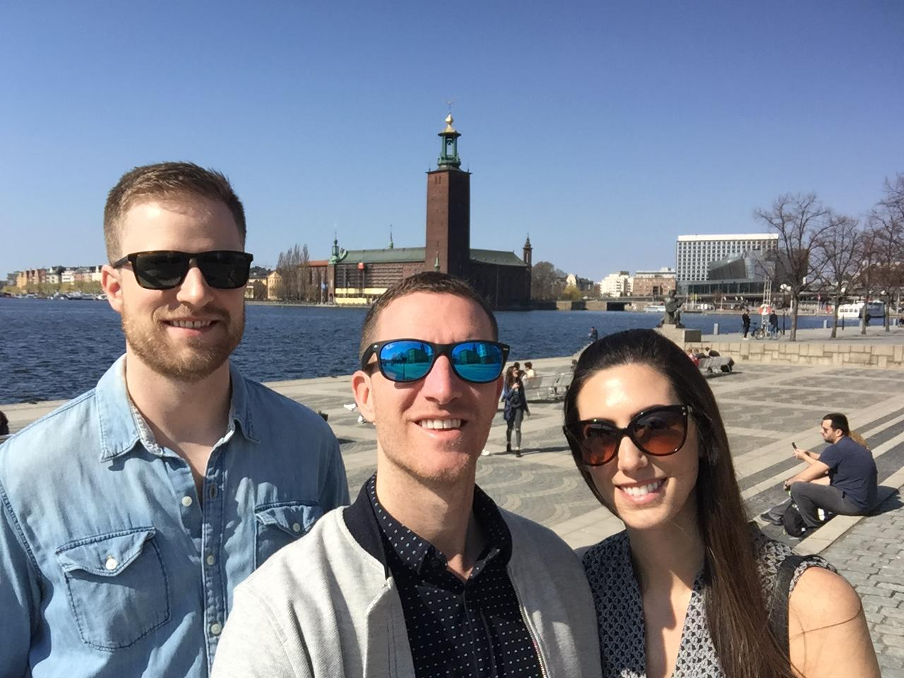 Stockholm, Sweden with cousin Nicky