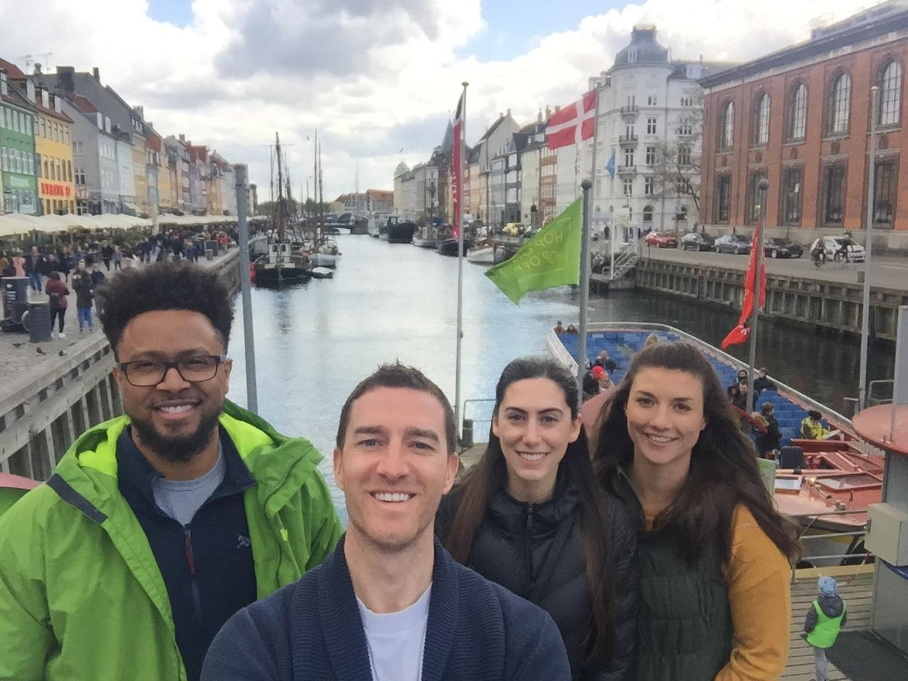 Nyhavn, Copenhagen with Drew and Brittany