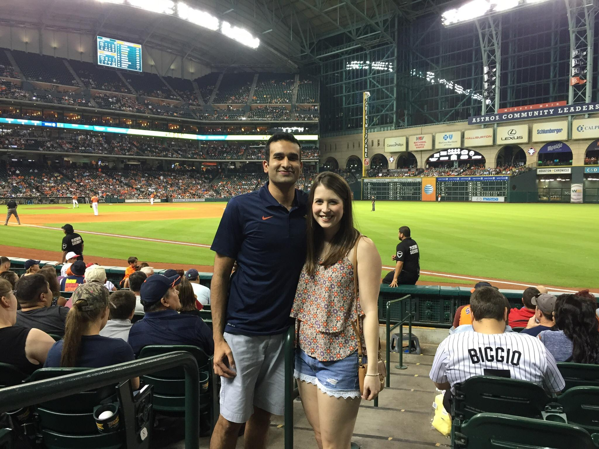 The first date Meredith ever took Shawn on was a Astros baseball game - he was smitten!!