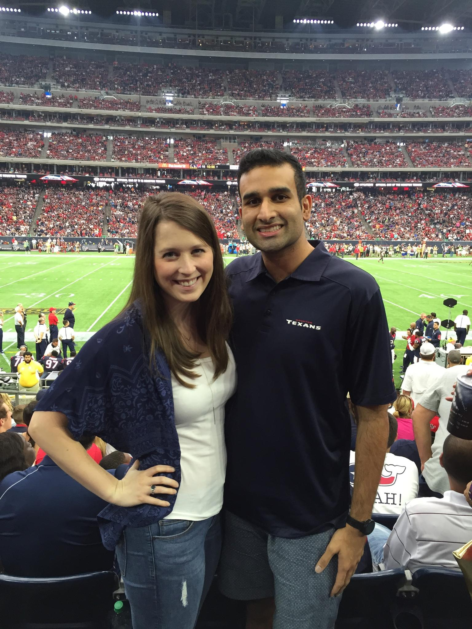 Shawn has fully converted Meredith to a Texans fan!
