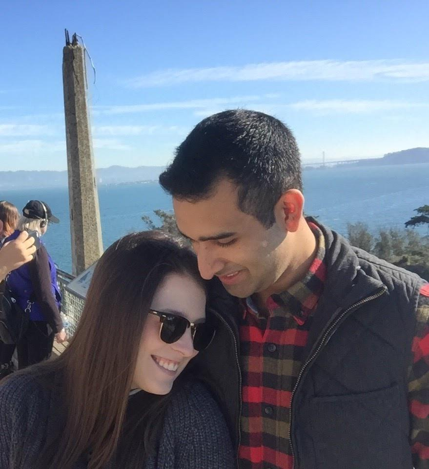 Our first trip together in San Francisco on Alcatraz - which we referred to as Azkaban the whole weekend :)