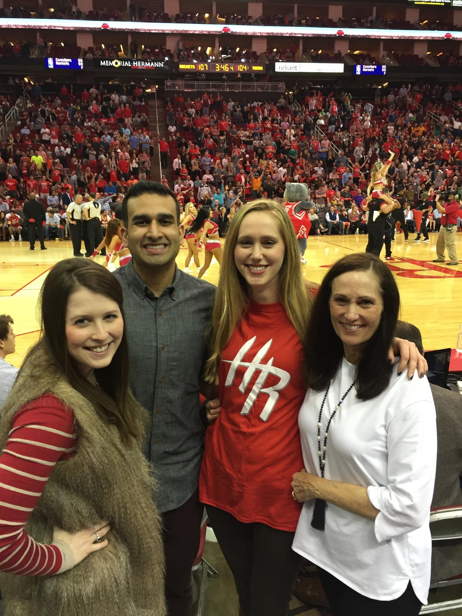 McKay and the whole Brown fam joined us for the Thanksgiving weekend Rockets game!