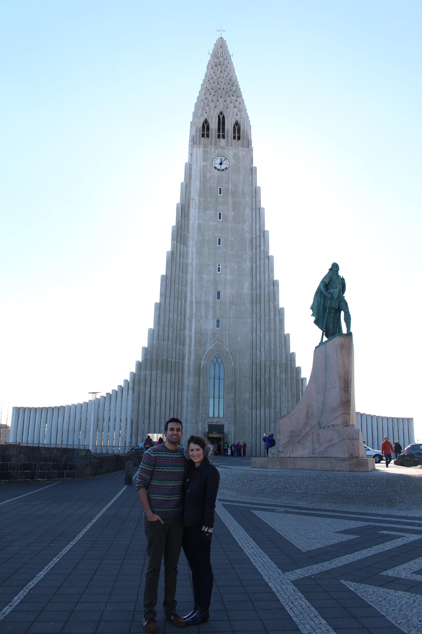 Hallgrímskirkja church is so unique, looming over Reykjavik