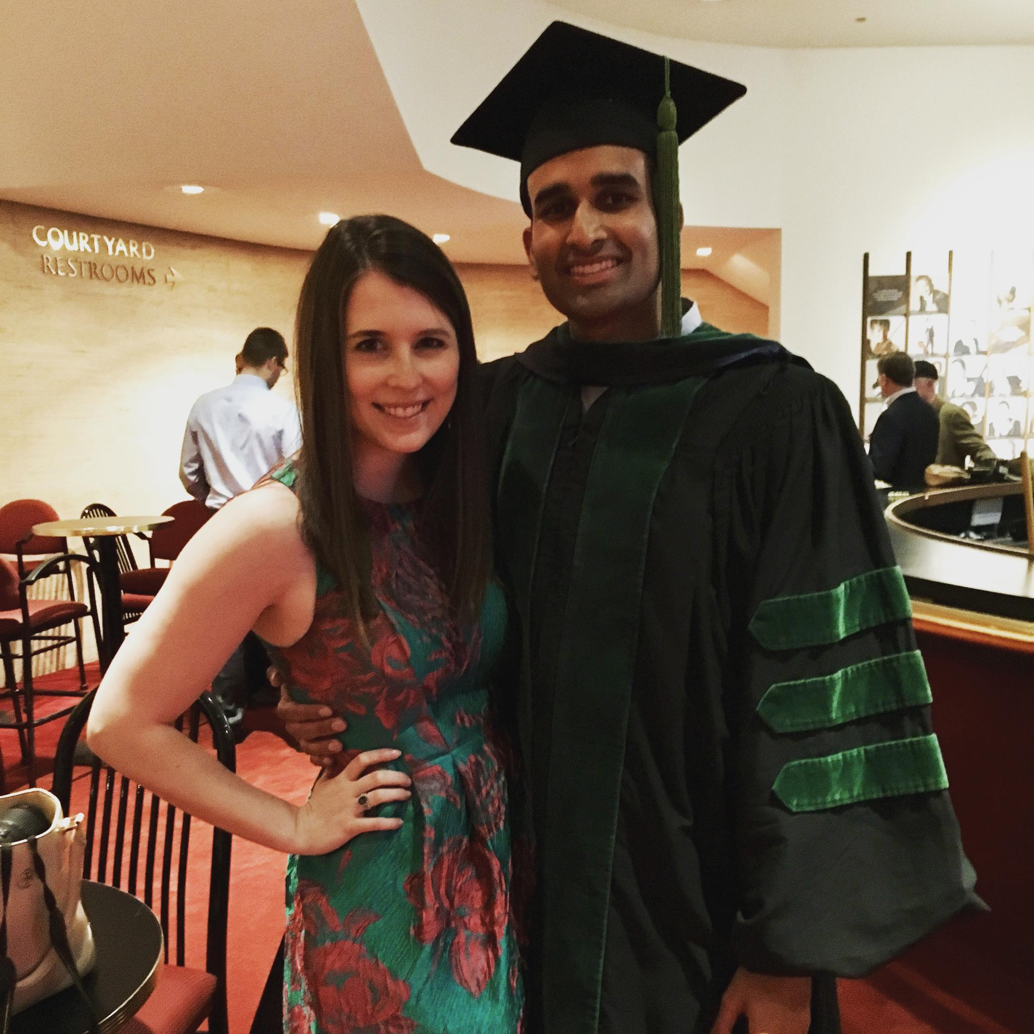 Celebrating Shawn's graduation from Baylor College of Medicine!