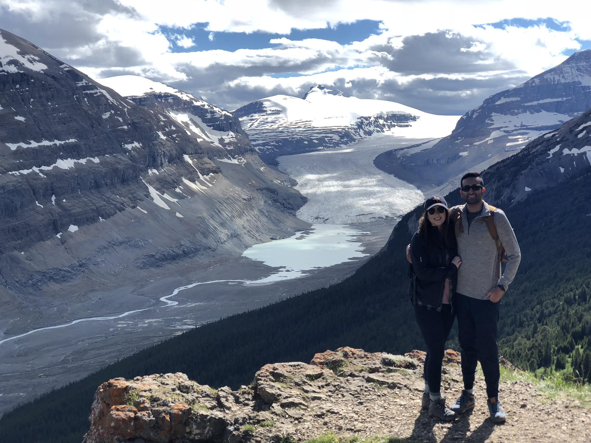 This view of the Athabasca Glacier in Banff National Park took our breath away!