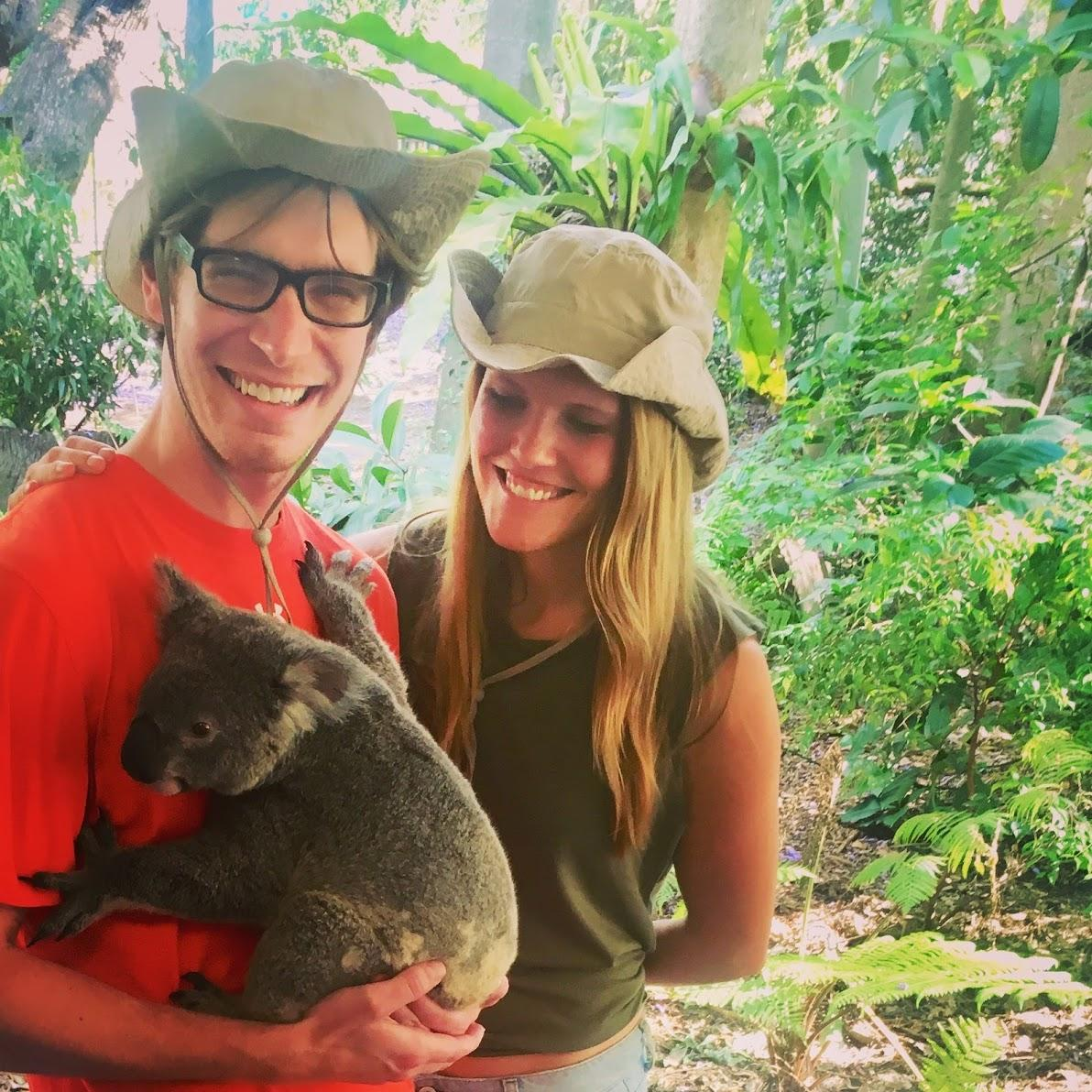 When in Australia! Be grateful there is just one of these... Kristi has 300 pictures with kangaroos and koalas