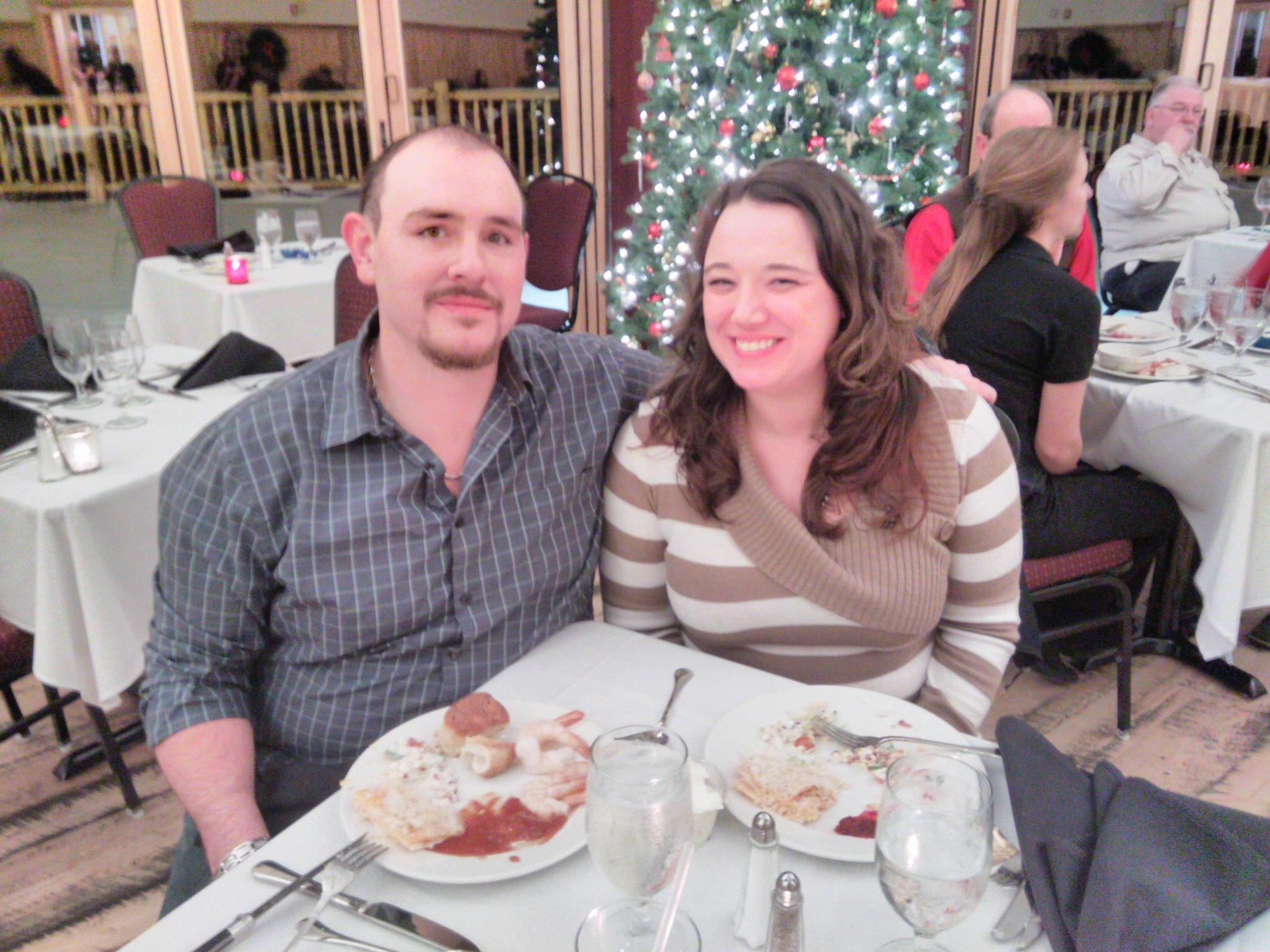First Christmas dinner together at Quinn's Hot Springs. Paradise, MT