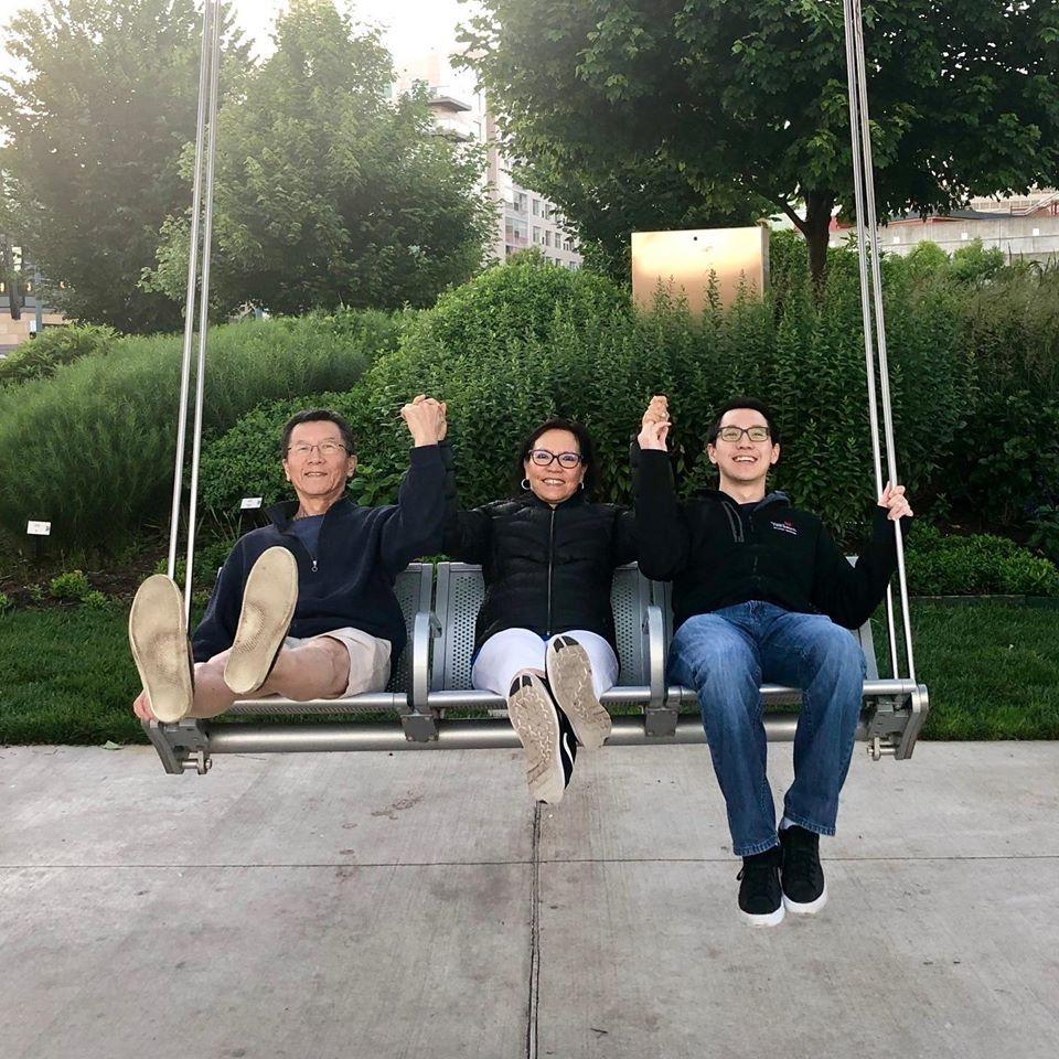 Alex and his parents in Cincinnati for his graduation from residency ♡