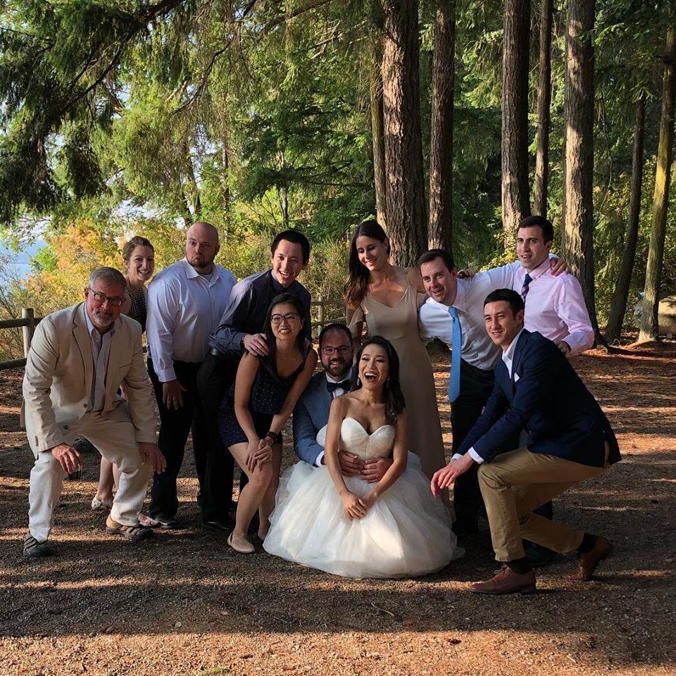 Cincinnati Family out in Seattle, WA for Matt and Grace's wedding