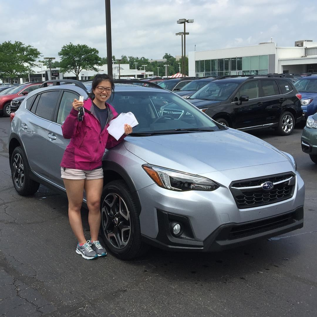 May 2018 — Lisa buys her first car!
