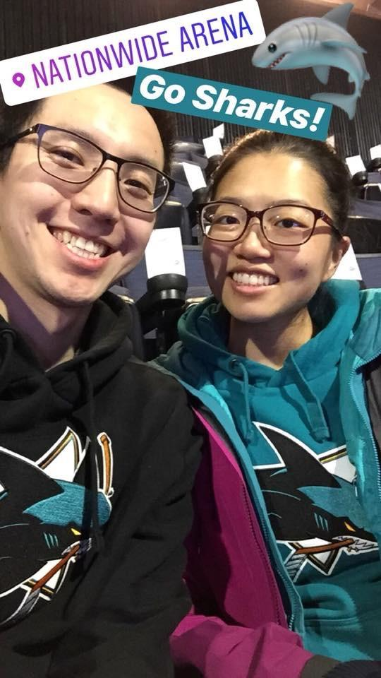 In Columbus, OH to watch the SJ Sharks