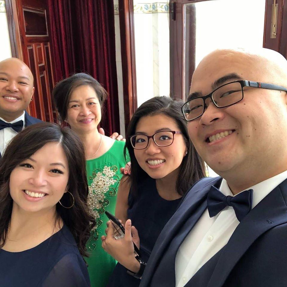Siblings all grown up! Getting ready for Robinson's wedding in Vietnam!