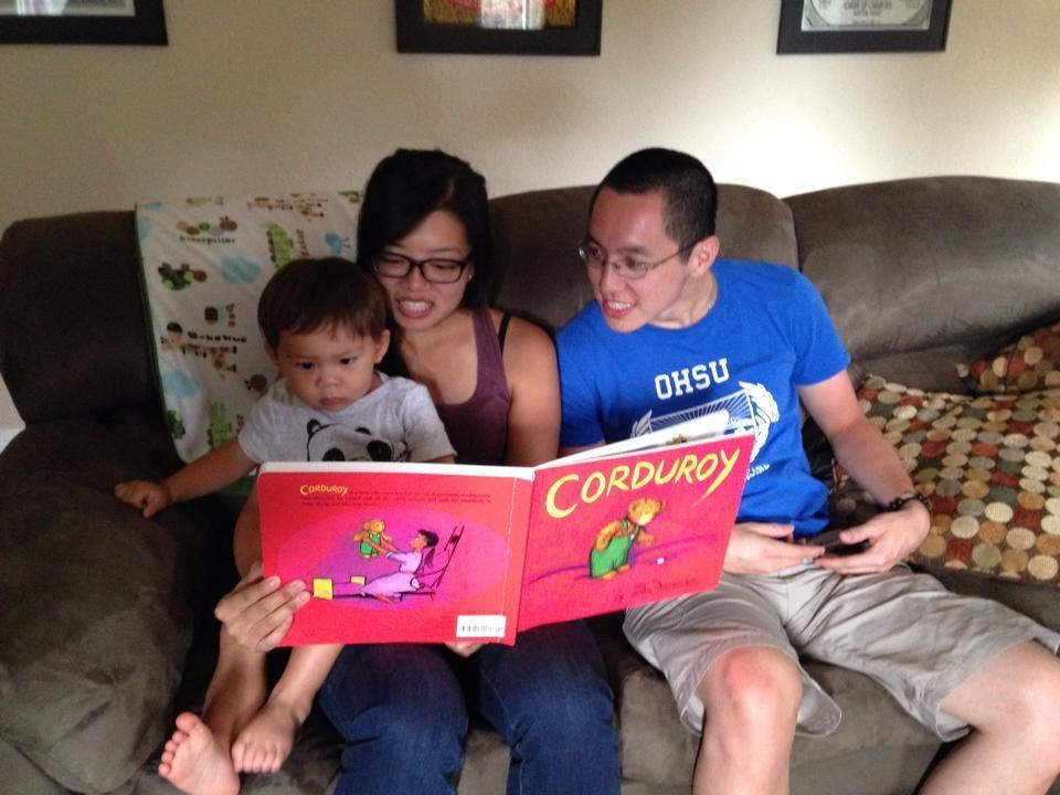 Lisa could not resist reading her favorite book from childhood to Tyler!