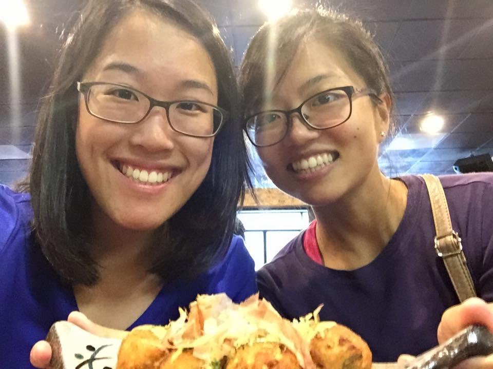 Lindsay (bridesmaid) and Lisa's outing for yummy Japanese food
