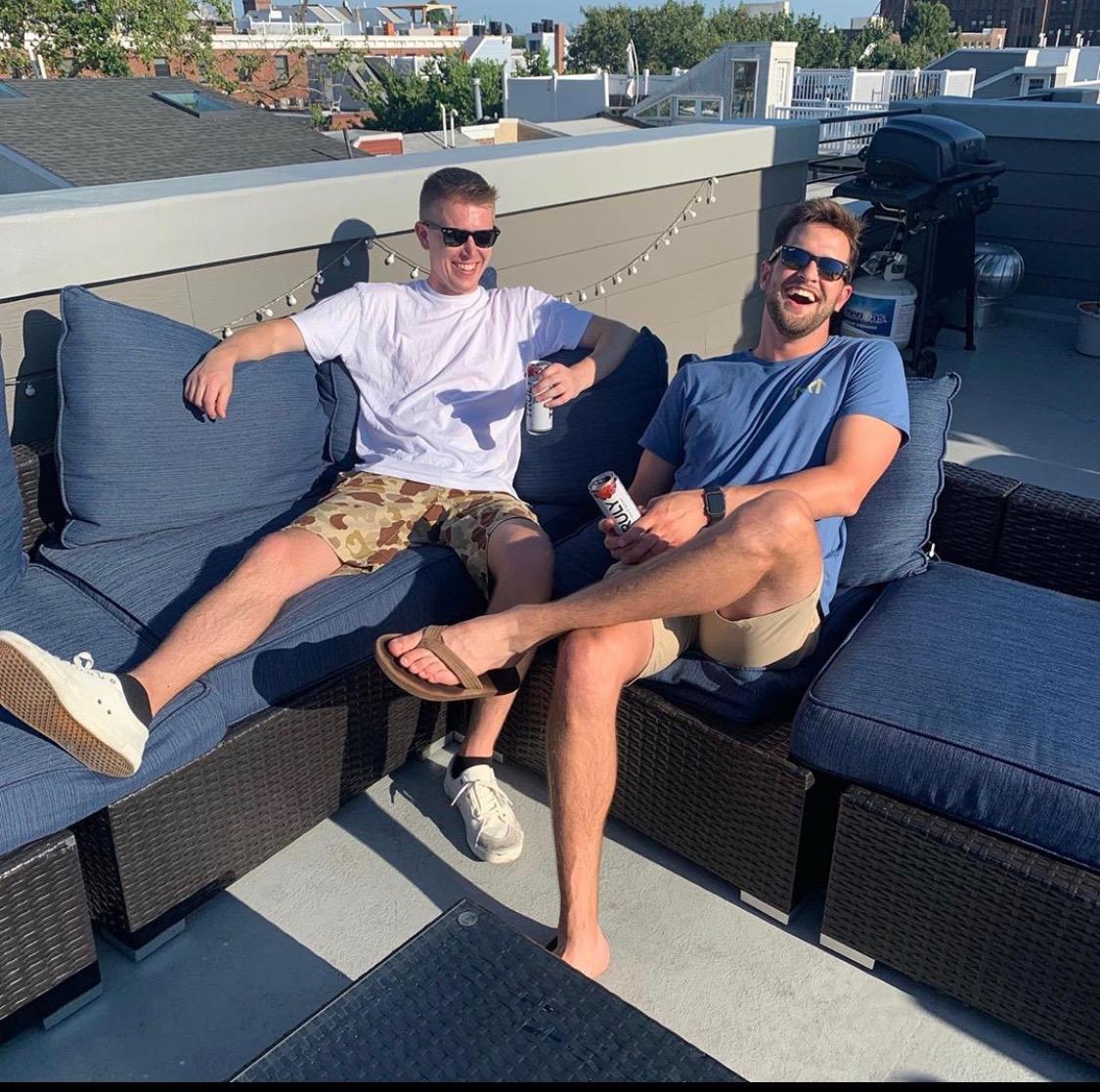 Scott with his groomsman, Jeremy.