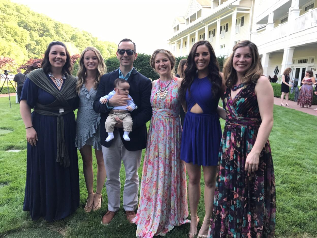 Taylor with her siblings Abbey, Miranda, Ryan, Allie and Emily; and her nephew, Beau!