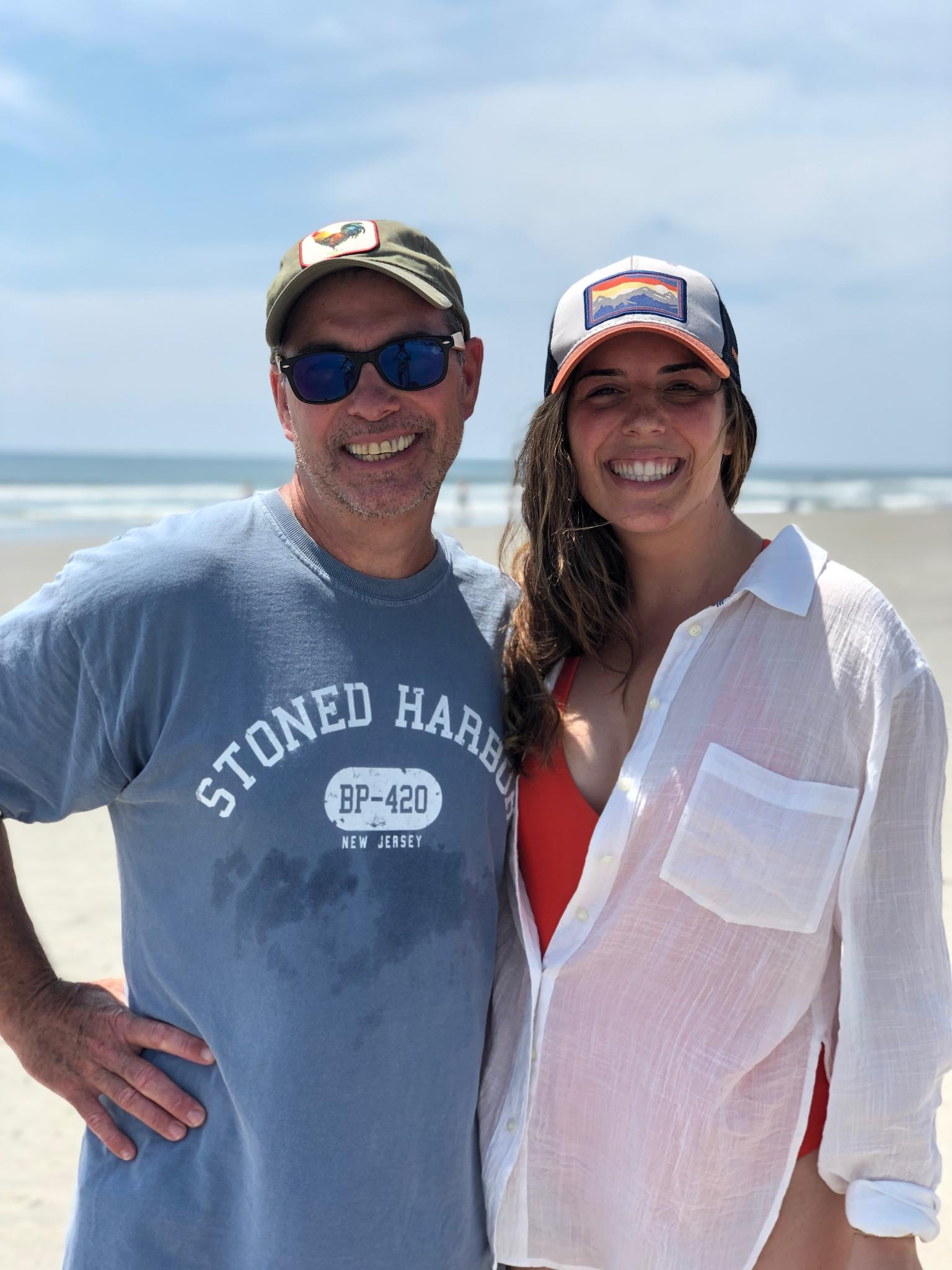 Taylor with her dad, Louie, during their annual family beach trip in Stone Harbor, NJ.