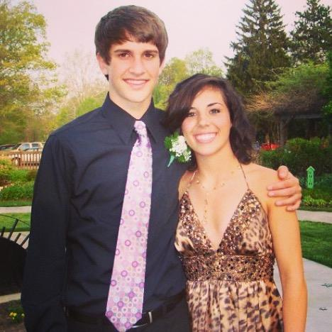 Scott and Taylor pictured at their 9th grade social, 2008.