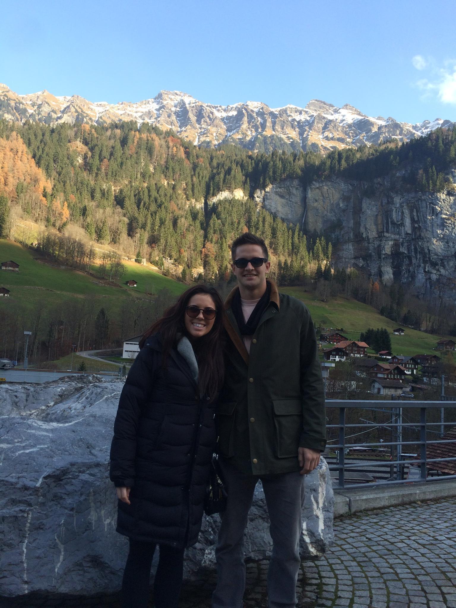 Scott and Taylor during their trip to Interlaken, Switzerland, 2014.