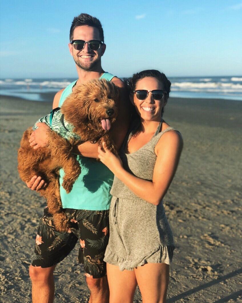 Newman's first beach trip, 2018.